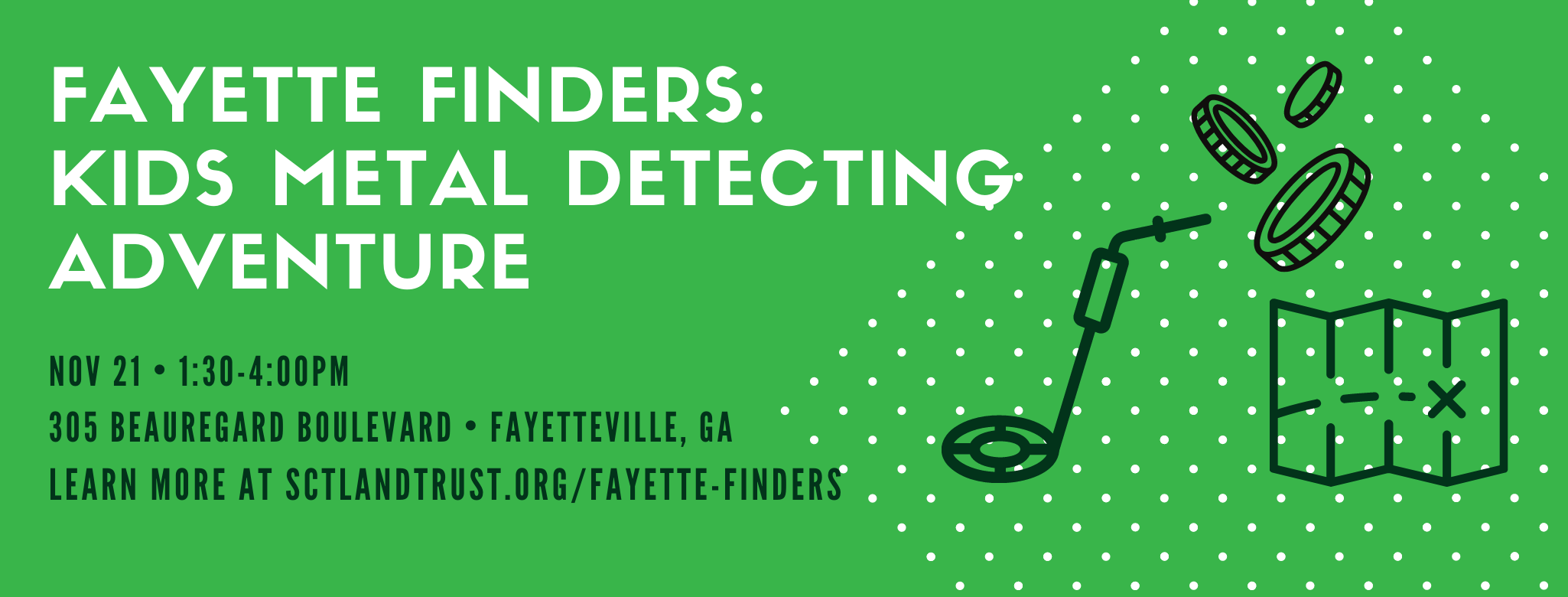 Fayette Finders: Kids Metal Detecting Adventure @ Southern Conservation Trust